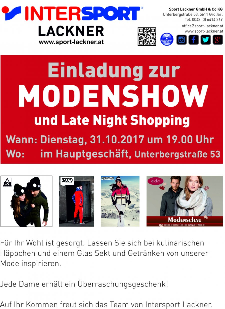 Modenshow und Late Night Shopping